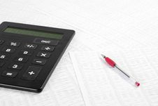 Free Calculator And Financial Data Royalty Free Stock Photos - 14492438
