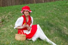 Free Red Riding Hood In The Meadow Stock Image - 14492481