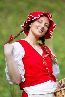 Free Red Riding Hood In The Wood Royalty Free Stock Image - 14492526