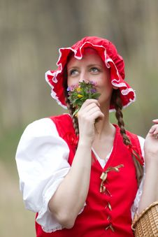 Free Red Riding Hood In The Wood Royalty Free Stock Photos - 14492538