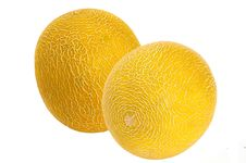 Free Two Sweet Melons, Isolated Stock Images - 14492604