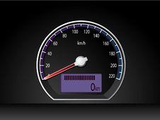 Free Analog Speed Display Dashboard Stock Images - 14493654