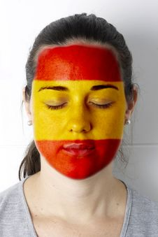 Spanish Soccer Fan - Football Fan Stock Photography