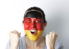 Free German Fan Screaming GOAL Royalty Free Stock Photography - 14493707
