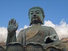 Free Tian Tan Giant Buddha From Po Lin Monastery Hong K Royalty Free Stock Photo - 14493715