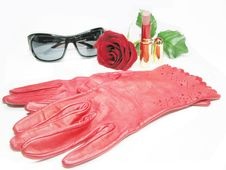 Free Red Women Gloves Royalty Free Stock Image - 14494216