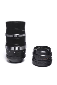 Free Two M42 Lenses Royalty Free Stock Photo - 14494355