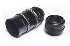 Free Two M42 Lenses Stock Image - 14494361
