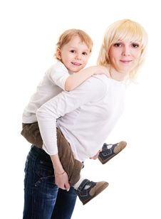 Free Young Mother And Little Son Stock Photos - 14494393