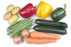 Free Mixed Vegetables Over White Stock Photo - 14494440