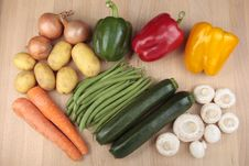 Free Mixed Vegetables On Board Royalty Free Stock Image - 14494636