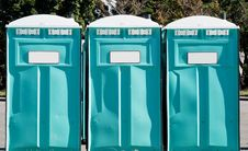 Free Port-a-potties In A Row Outdoors Stock Images - 14494744