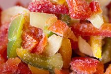 Free Frozen Multicolored Peppers Royalty Free Stock Photos - 14494888