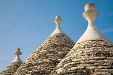 Free Trulli Conical House Roof Royalty Free Stock Photos - 14494898