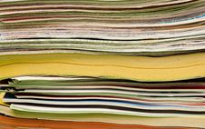 Stack Of Magazines For Recycling Stock Photos