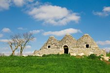 Free Decaying Trulli, Conical Shaped Houses Stock Photos - 14494953