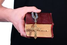 Free Old Bible Cross Royalty Free Stock Photography - 14495007