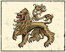 Free Heraldic Lion Stock Photo - 14495790