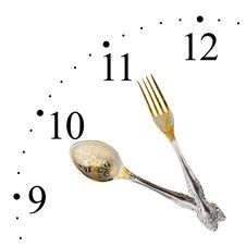 Free Clock Made Of Spoon And Fork Stock Photography - 14496512
