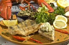Free Grilled Pikeperch Royalty Free Stock Images - 14496789