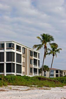 Oceanfront Beach Condominium Royalty Free Stock Image
