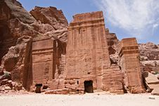 Free Nabatean Tombs Royalty Free Stock Images - 14497209