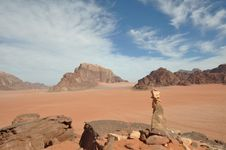 Free Wadi Rum Cairn Stock Photo - 14497590