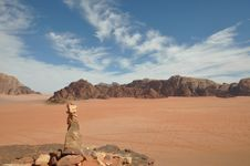 Wadi Rum Cairn Royalty Free Stock Photos