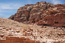 Free Wide View Of Large Cliff Side Tomb. Royalty Free Stock Photos - 14497968