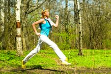 Free Girl Jogging Stock Images - 14498464