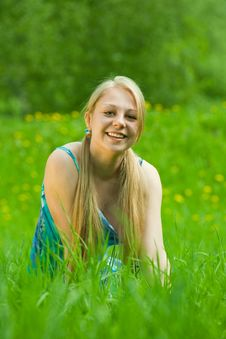 Free Pretty Smiling  Girl Stock Photography - 14498562