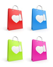 Free Bags For Valentine S Day Royalty Free Stock Images - 14499299