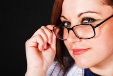 Free Beautiful Girl In Eyeglassess Royalty Free Stock Images - 14499619