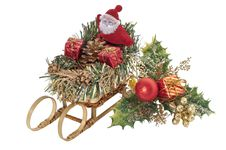 Free Santa Claus And Holly Ornament Stock Photos - 14499733