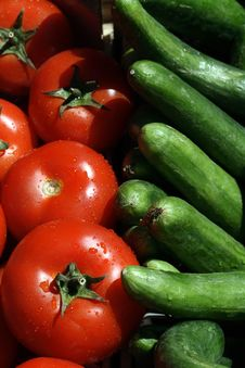 Free Tomatoes And Cucumbers Stock Photography - 14499812