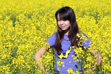 Free Girl In Field Royalty Free Stock Image - 14499886