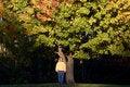 Free Woman Under Fall Tree Stock Photos - 1458203