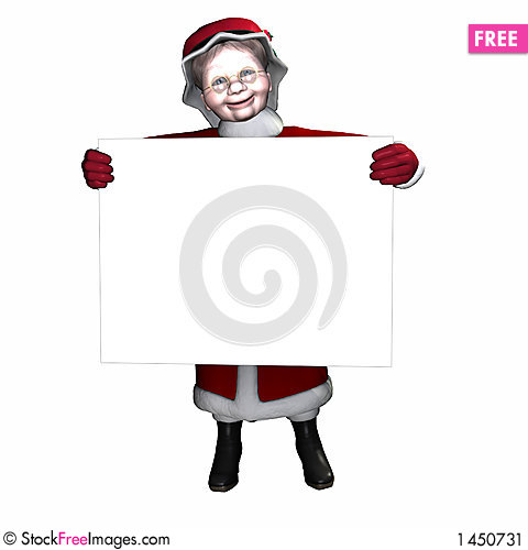 Mrs Claus Sign 1 Stock Photo