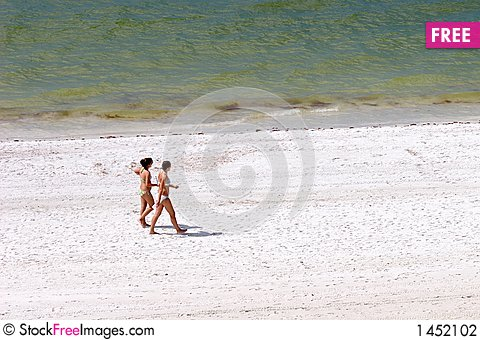 Free Girls On The Beach Stock Photography - 1452102