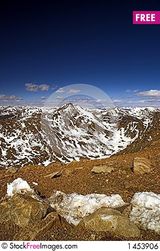 Colorado Mountains and blue sky Stock Photo