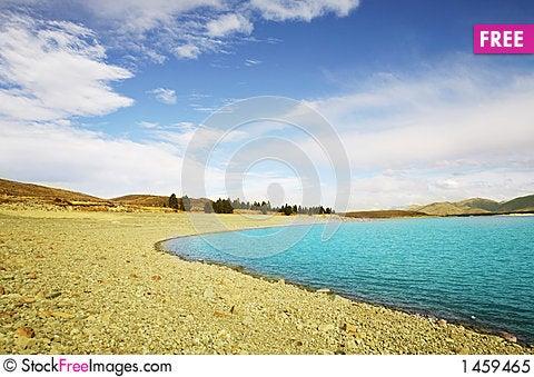 Blue Lake tekapo Stock Photo