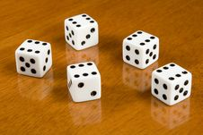 Five Dices Stock Photography