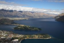 Free Lakefront From Queenstown Royalty Free Stock Photos - 1452228