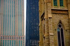Old And New Buildings Royalty Free Stock Image