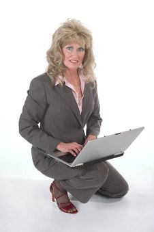 Free Business Woman At Work On Laptop Stock Images - 1452834