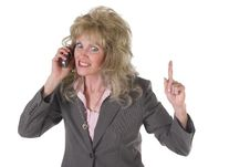 Free Excited Executive Business Woman On Cellphone Stock Photos - 1452843