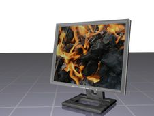 Free LCD FIRE Stock Image - 1452921