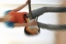 Female Guitarist Royalty Free Stock Images