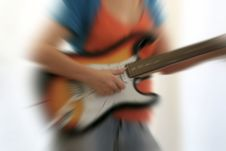 Free Female Guitarist Stock Image - 1453541