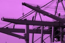 Free Abstract Dockyard Cranes Stock Photography - 1453752
